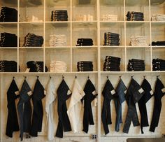 Denim Wall on Houston Street: Can this be my closet?? Please