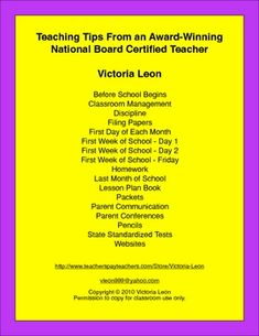Teaching Tips From an Award-Winning National Board Certified Teacher...sounds interesting!