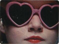 Lolita style sunglasses.
