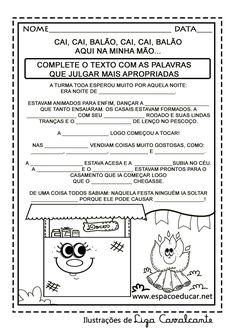 Lindas atividades de Festa Junina para a Alfabetização ou 1º Ano grátis para você imprimir! Atividades de Festas Juninas! - ESPAÇO EDUCAR