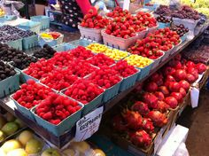 Granville Island Market; have you seen more luscious berries?  Those reds are so saturated!