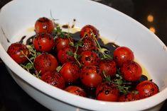 Balsamicobakte cherrytomater – josefinesmatgleder Frisk, Cherry, Food And Drink, Red, Prunus