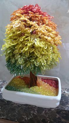 Autumn beaded bonsai بونسای پاییزی منجوقی