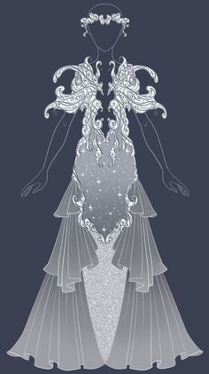 Dress 8 adopt – auction open by uwwa on deviantart outfits designs Dress Drawing, Drawing Clothes, Character Costumes, Character Outfits, Mery Chrismas, Rose Clothing, Fashion Art, Fashion Design, Animal Fashion