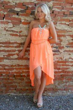 NanaMacs Vintage Boutique - Bright Coral Chiffon High-Low Maxi Dress, $32.99 (http://www.nanamacs.com/bright-coral-chiffon-high-low-maxi-dress/)