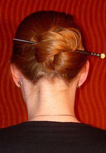 Keltischer Knoten für lange Haare
