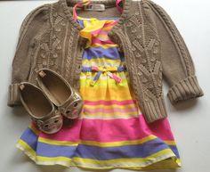 Toddler girl fashion//:  Dress: Target, Sweater: H, Shoes: Baby Gap