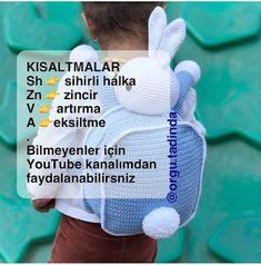 SIRT ÇANTA TARİFİ Youtube, Tricot, Backpack, Youtubers, Youtube Movies