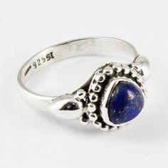 BLUE FIRE !! Lapis Stone Designer 925 Sterling Silver Ring for Girl's & Women's by JaipurSilverIndia on Etsy