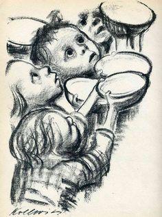 artist kathe kollwitz   Germany's children starve!