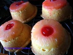 Healthy Individual Upside Down Pineapple Cakes | Domesticated Academic