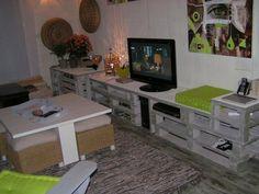 Palette on pinterest pallets euro pallets and wood pallets - Deco avec palette de bois ...