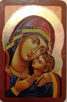 Eleusza ( Meghatódott ) Istenanya Mai, nyugati stílusú ikon #kecskemét#ikon