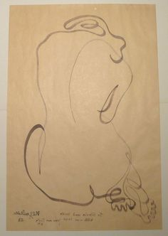 Jean Negulesco Single Line Drawing -  Back of Nude - 1953