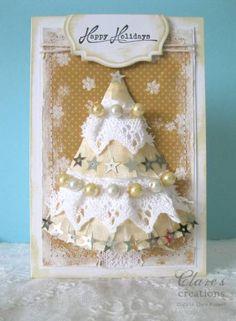 Shabby 3D Christmas Tree card