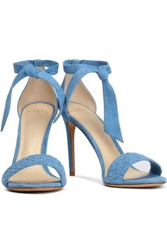 Bow-embellished braided suede sandals   ALEXANDRE BIRMAN   Sale up to 70% off   THE OUTNET