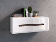 New HIGH GLOSS WHITE Wall Mounted Cabinet | Brand 1 Door Opens Up Cabinet AZTECA