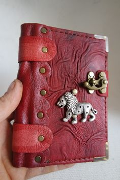handmade leather bound journal handmade small size leather notebook Leather diary with Leaf emblem Leather Sketchbook