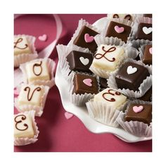 Valentine's Day Collection Petit Fours ❤ liked on Polyvore featuring home and kitchen & dining
