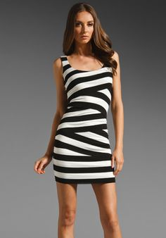 BAILEY 44 You're The Top Dress in Black/Creme