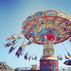 Santa Cruz Boardwalk...a must for old times sake. Love that my son loves the sea swings as much as I do!