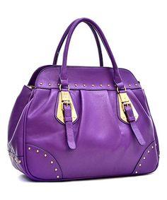 Look what I found on #zulily! Purple Studded Satchel #zulilyfinds