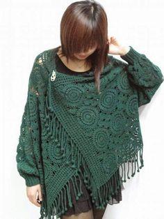 ergahandmade: Poncho - Shawl Crochet!