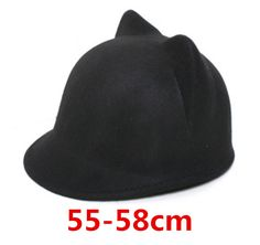 1529955c420 2015 new Winter Women Girl Wool fedora hat Derby Devil Hat Cute Kitty Cat  Ears Bowler