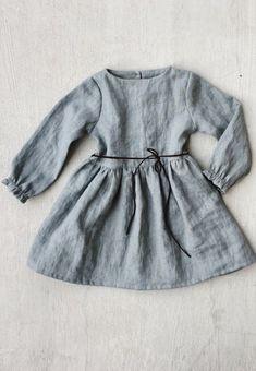 Handmade Soft Linen Baby Toddler Dress   simplygreylife on Etsy