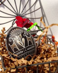 Traditional Etched Chicken Egg  Lithuanian  Pysanky  by teener1416, $18.00
