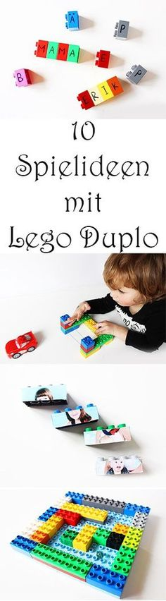 10 creative ideas with Lego Duplo + Video – Mama Creative - Kinderbetreuung Lego Duplo, Lego Games, Crafty Kids, Creative Play, Diy Crafts For Kids, Preschool Activities, Games For Kids, Kids And Parenting, Kids Playing