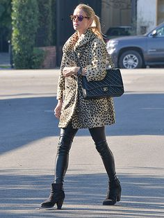 Star Tracks: Wednesday, December 30, 2015 | FELINE FEVER | Nicky Hilton steps out in Los Angeles on Tuesday in black leather pants and a leopard-print coat.