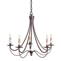 Melisenda French Country Rubbed Bronze Wrought Iron Chandelier ($434) ❤ liked on Polyvore featuring home, lighting, ceiling lights, wrought iron chandeliers, pillar lights, wrought iron lighting, bronze chandelier and french country lighting