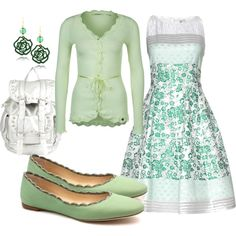 To complete: mint converse, mint floral dress <3