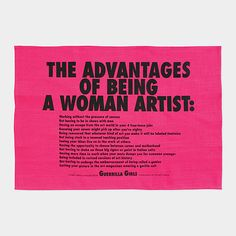 Guerrilla Girls Tea Towel | MoMA