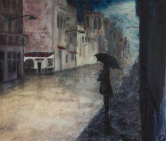 Dívka s deštníkem (girl with an umbrella) by Vladimír Svozil  $1400