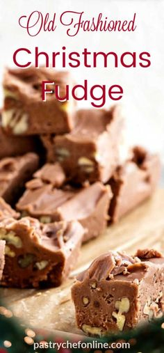 This old fashioned fudge recipe belonged to a reader's grandmother. When she died, all she left was the ingredient list for creamy cocoa fudge, and her family didn't know how to make it. My reader sent the recipe to me, and I gave them back their family's Homemade Christmas Treats, Christmas Fudge, Christmas Sweets, Simple Christmas, Christmas Cookies, Homemade Fudge, Homemade Candies, Holiday Baking, Christmas Baking