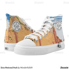 Zion National Park Printed Shoes