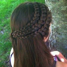 Triple half crown braid