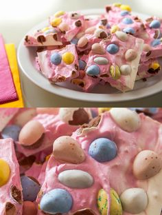 This marbled Easter bark is a fun twist on a standard recipe - and it only takes a few minutes to make. Plus it tastes delicious!