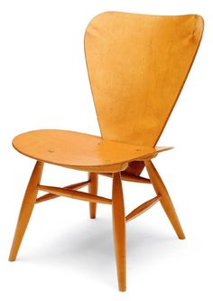 Yngve Ekstrom; Birch Chair, 1960.