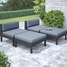 Shop CorLiving Oakland Lounger Patio Set at Lowe's Canada. Find our selection of outdoor conversation chairs at the lowest price guaranteed with price match. Patio Rocking Chairs, Patio Chaise Lounge, Outdoor Lounge, Outdoor Chairs, Lounge Chairs, Outdoor Rooms, Ensemble Patio, Patio Glider, Patio Furniture Sets