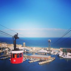 The iconic cable car in Barcelona... #barcelona #barcelonainspira #barcelonalove #barcelonalovers #barcelonagram #catalunya #catalonia #catalunyainspira #citybreak #weekend #spain #cablecar #architecture #tourist #vacation #holidays #vacations #weekendinbarcelona #barcelonacitybreak #sea #nature #travel #traveling #travelling #instatravel #barcelona2016 #apartmentsbarcelona