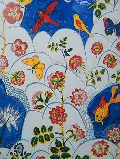 Josef Frank.  this man's designs and colors make me very happy, and have even inspired my art-H