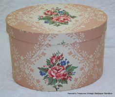Vintage Wallpaper Hat box