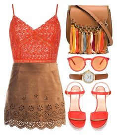 """""""Coachella Style"""" by the-messiah ❤ liked on Polyvore featuring Chloé, Sans Souci, Stuart Weitzman, Quattrocento and Kate Spade"""