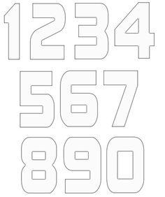 20 free various number template diy crafts free pattern