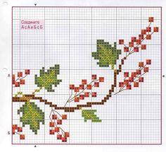 Viburnum #easy#embroidery#sweet,simple,pattern,cross stitch,design
