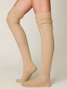 Vintage Sweater Tall Socks by Free People