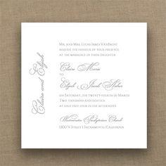 Marvelous Marquis - Imperial Invitation - White